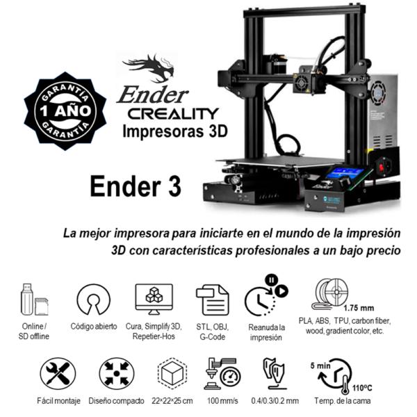 Original Creativo3D - Ender 3 Características